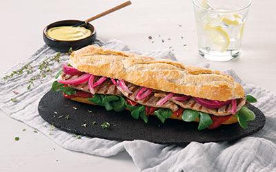 Chumango - Receta de sandwich chileno de cordero y queso de oveja
